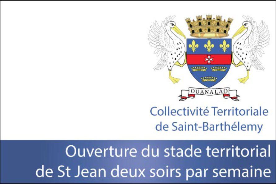 Saint-Barthélemy – Ouverture du stade territorial de St Jean deux soirs par semaine