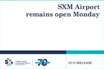 SXM Airport remains open Monday