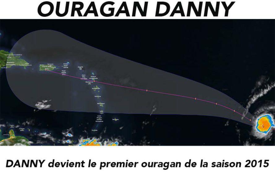 Danny devient le premier ouragan de la saison cyclonique Atlantique 2015