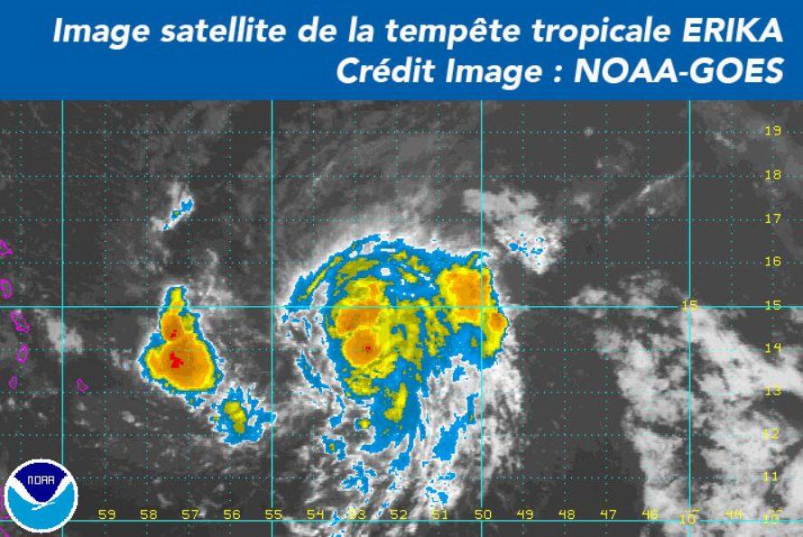 Tempête tropicale ERIKA – Prévisions du mardi 25 Aout 20h00