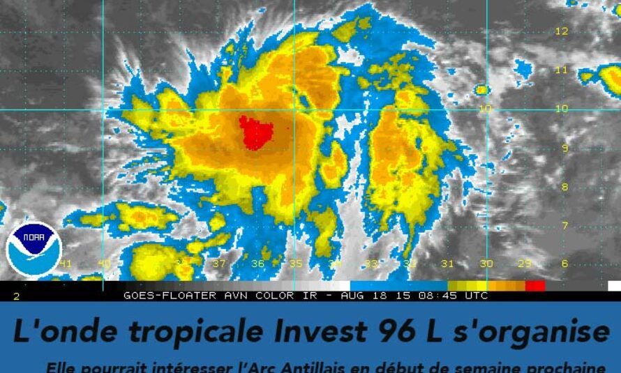 En Atlantique, l'onde tropicale Invest 96 L s'organise