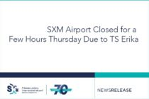 SXM Airport Closed for a Few Hours Thursday Due to TS Erika