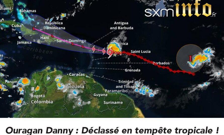 L'ouragan Danny en approche des îles du Nord déclassé en Tempête tropicale – Vigilance Orange