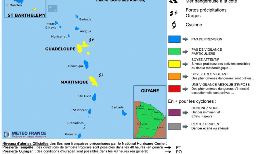 Bulletin de suivi VIGILANCE n° 1 IDN : St-Martin et St-Barthélemy du Jeudi 10 septembre 2015 à 16h55 légales