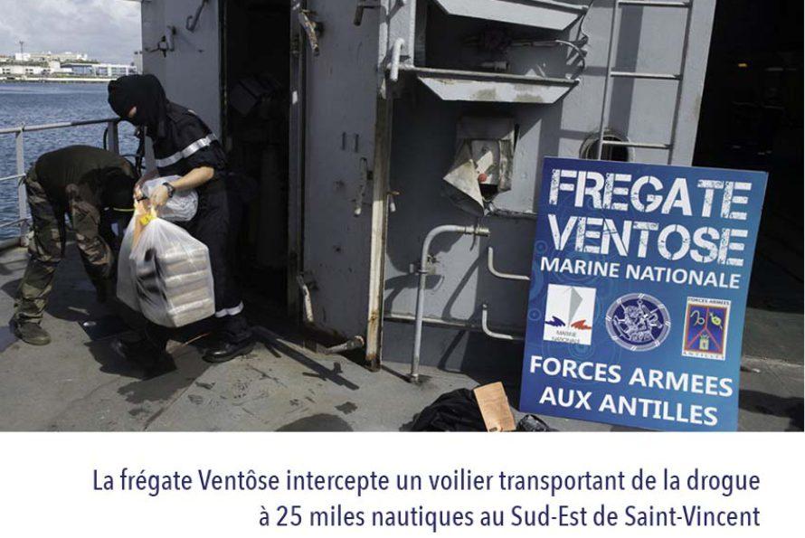 Antilles : Les forces armées aux Antilles (FAA) Interceptent un voilier transportant de la drogue au Sud-Est de Saint-Vincent