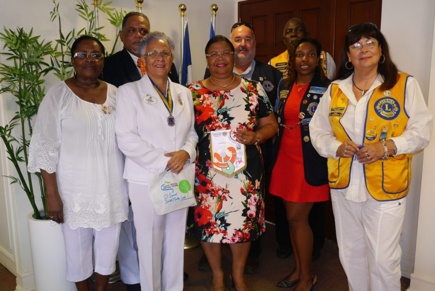 Saint-Martin : Rencontre avec la gouverneure du District du Lions Club Antilles Guyane