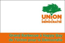 Grand Barbecue àHappy Bay de l'Union pour la Démocratie