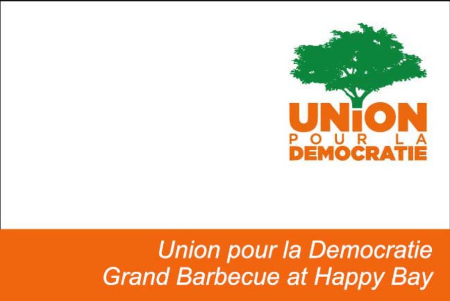 Union pour la Democratie Grand Barbecue at Happy Bay