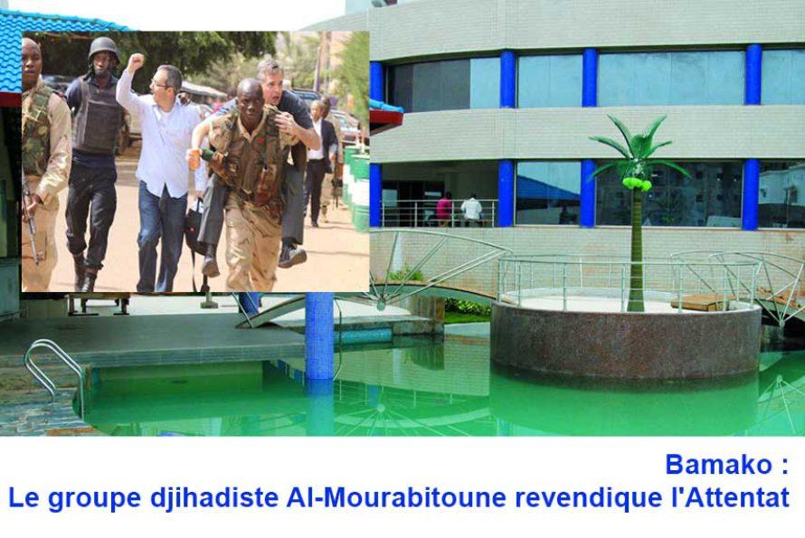MALI : Le groupe djihadiste Al-Mourabitoune revendique l'Attentat  à l'Hôtel Radisson de Bamako
