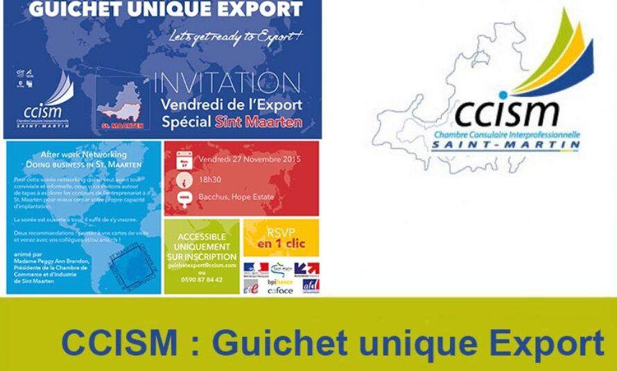 """CCISM : Deuxième édition des """"Vendredis de l'Export"""" le 27 Novembre 2015"""