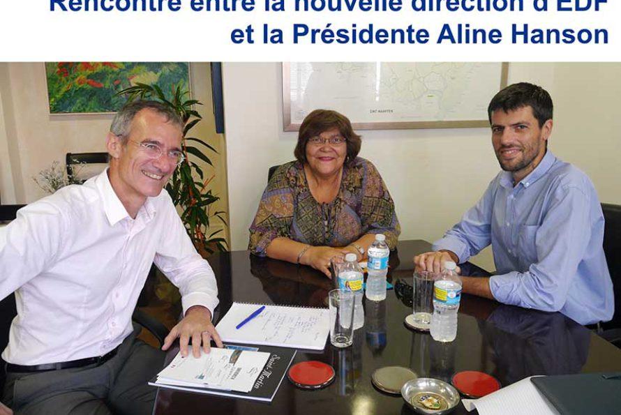 St-Martin : Rencontre entre la nouvelle direction d'EDF et la Présidente Aline Hanson