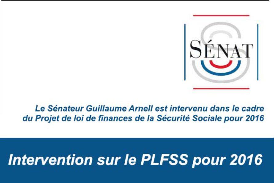 Sénateur de Saint-Martin : Intervention sur le PLFSS pour 2016