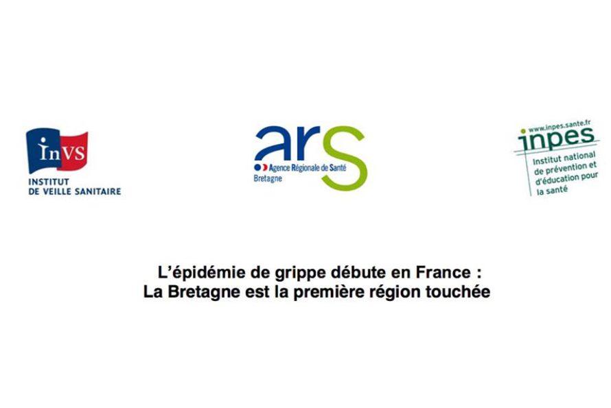 L'épidémie de grippe débute en France : La Bretagne est la première région touchée