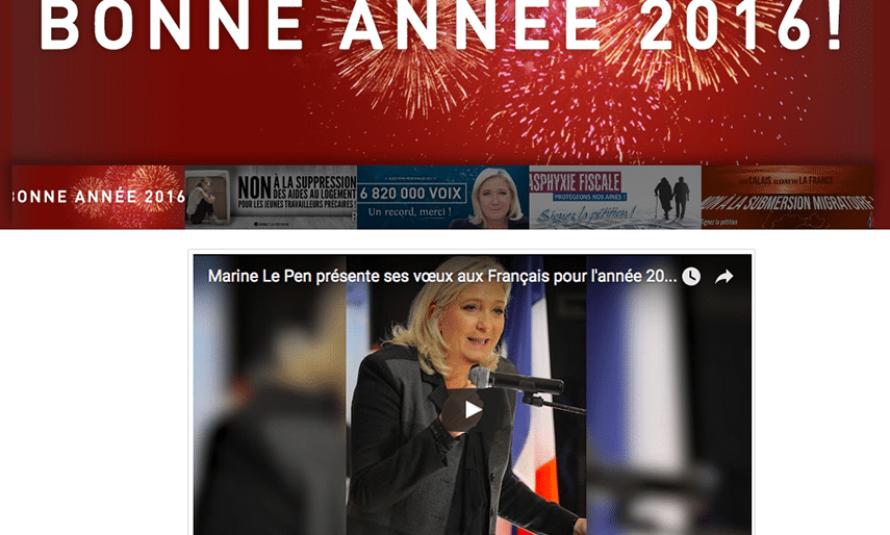 Les étranges vœux de Marine Le Pen pour 2016