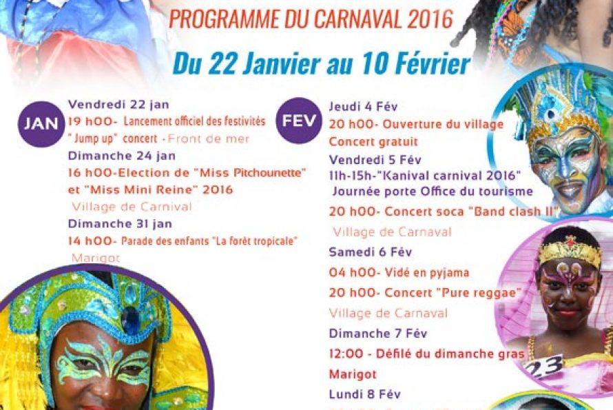 RAPPEL – L'office de tourisme vous invite à son Carnaval 2016