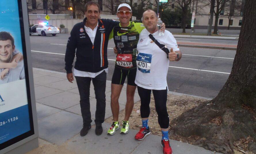 Pour le 11ème Marathon de David REDOR, Florent Letuvée de SXMINFO l'accompagne sur le semi a Washington DC