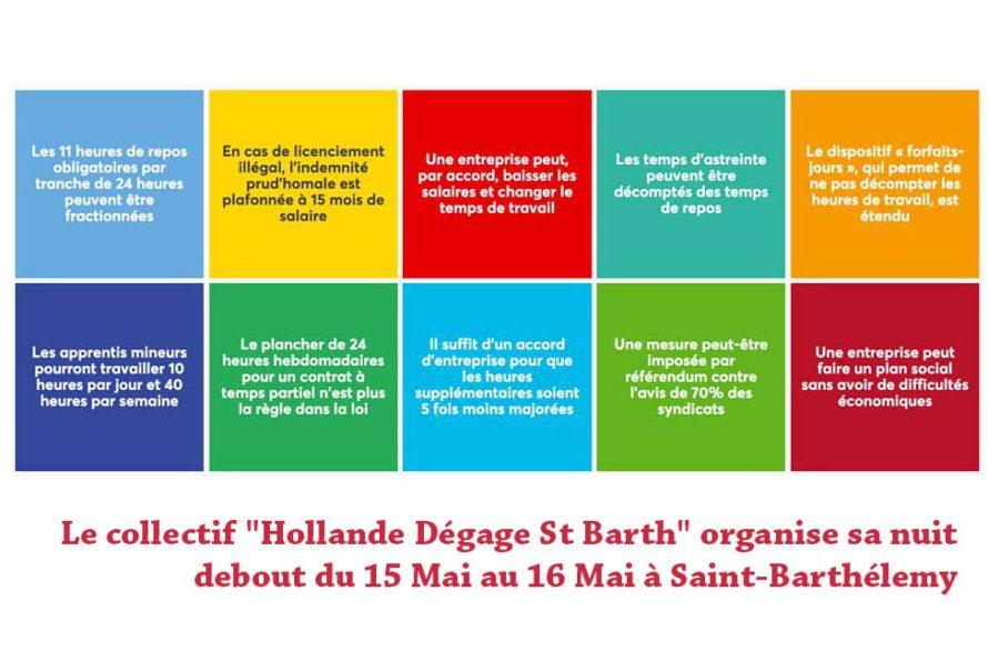 """Le collectif """" Hollande Dégage St Barth """" organise sa nuit debout du 15 Mai au 16 Mai à Saint-Barthélemy"""