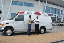 Ambulance handover to VKS at SXM Airport