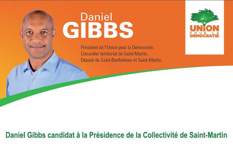 Daniel Gibbs candidat à la Présidence de la Collectivité de Saint-Martin