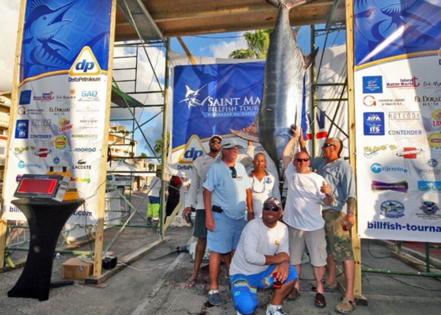 Saint-Martin Billfish Tournament : Le portique de pesée se garnit