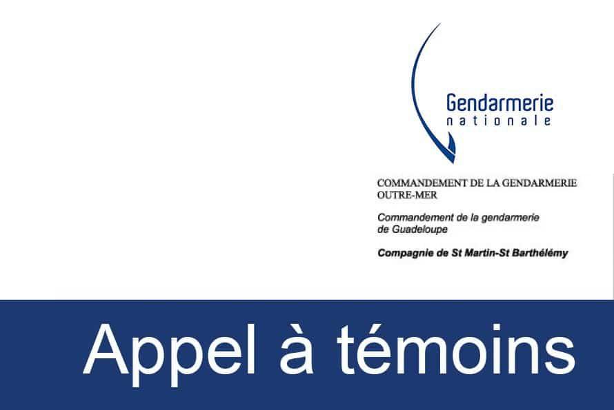 Gendarmerie : Appel à témoins relatif à l'homicide commis ce jour sur le parking du Leader Price à Mont Vernon II