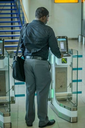 New Bar Code Boarding Pass (BCBP) e-Gates at SXM Airport. (SXM photo)