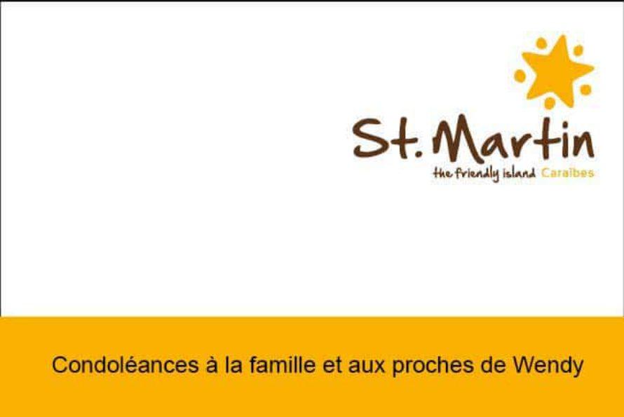 Office du Tourisme de Saint-Martin : Condoléances à la famille et aux proches de Wendy