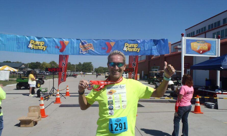 36ème marathon de l'année pour David Redor! Marathon de Grand Island : Une belle et sympathique promenade dans la campagne du Nebraska