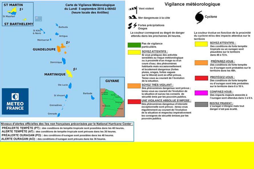Saint-Barthélemy et Saint-Martin en vigilance Jaune : Fortes pluies et Orage