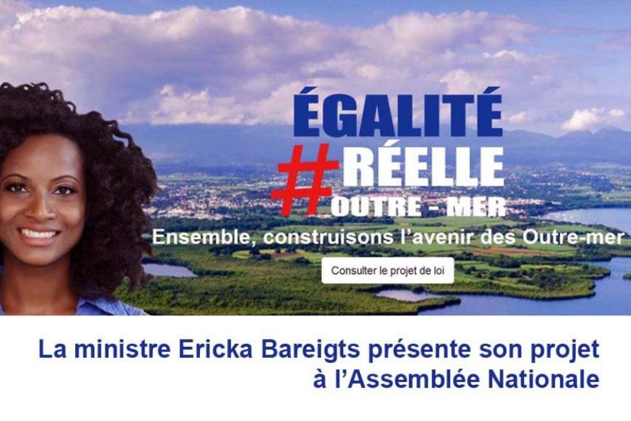 Egalité réelle Outre-mer : La ministre Ericka Bareigts présente son projet à l'Assemblée Nationale