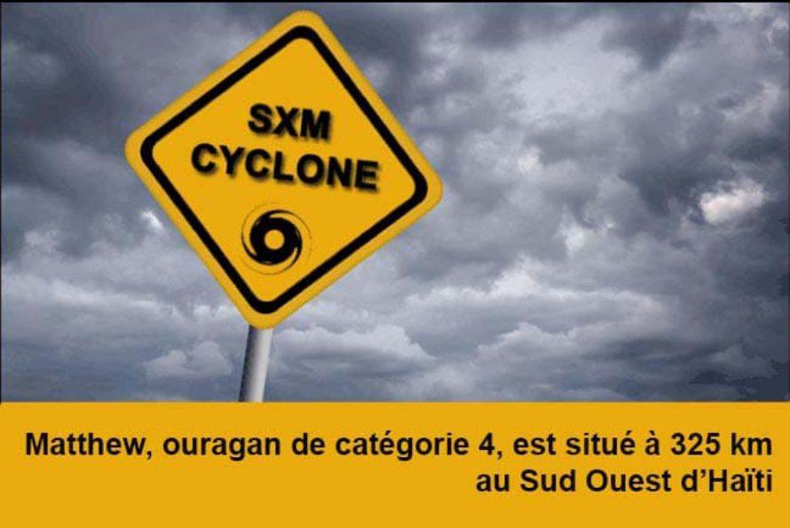 SXMCYCLONE : Vigilance jaune pour mer dangereuse à la côte pour l'ensemble des îles Françaises de la Caraïbe. Matthew au Sud Ouest d'Haïti