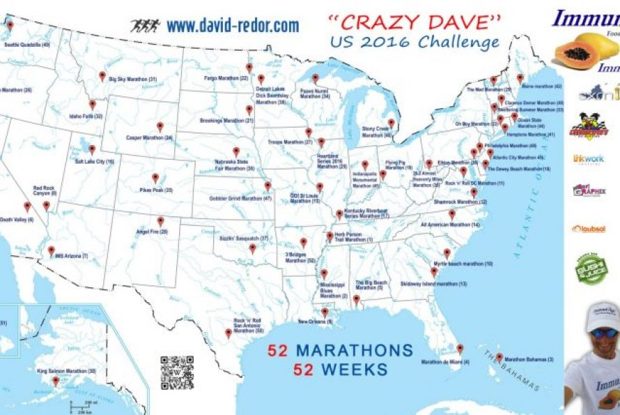 David Redor : Les 52 marathons ? c'est fait… La suite ? 100 !