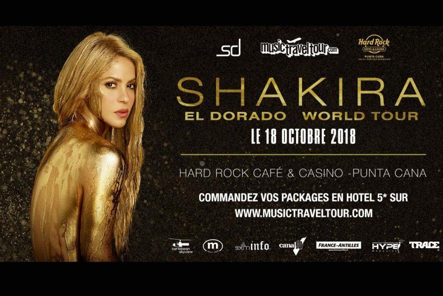 SXMINFO & MUSICTRAVELTOUR vous font partir rejoindre SHAKIRA en concert exclusif à la République Dominicaine
