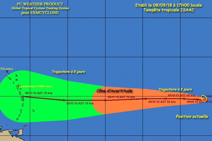 SXMCYCLONE : La dépression tropicale n°9 devient la tempête tropicale ISAAC