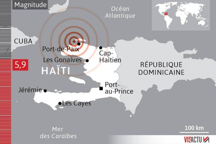 HAÏTI : Un séisme de magnitude 5,9 fait de nombreuses victimes