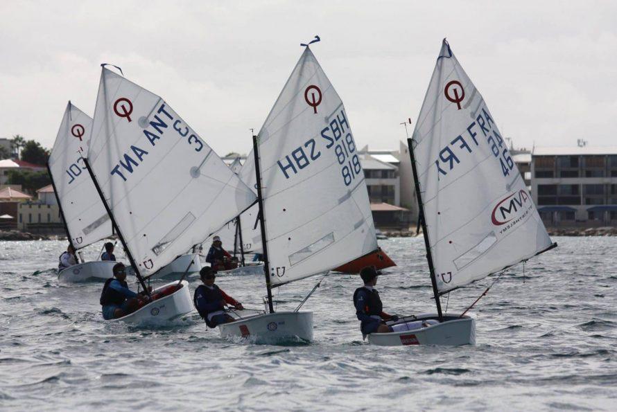 Déplacement de l'équipe du Saint Barth Yacht Club Optimist pour la Sol regatta 2018 a St maarten ce week end