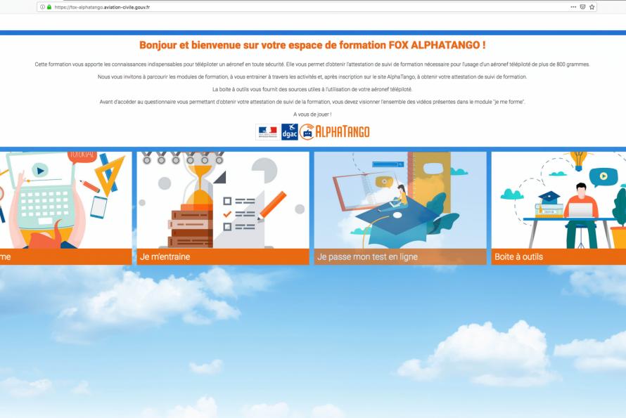 Drones : Le portail web AlphaTango ouvert en octobre dernier corrige des bugs