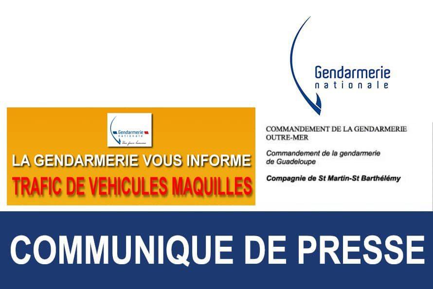 La gendarmerie vous informe : Trafic de véhicules maquillés