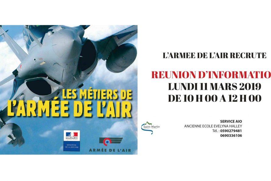 Saint Martin : L'armée de l'air recrute