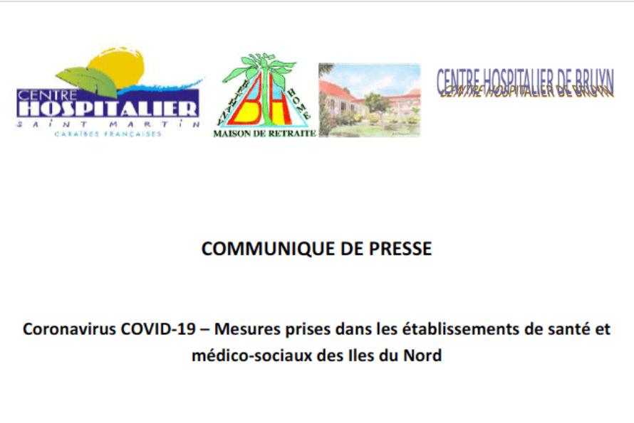 Coronavirus COVID-19 – Mesures prises dans les établissements de santé et médico-sociaux des Iles du Nord