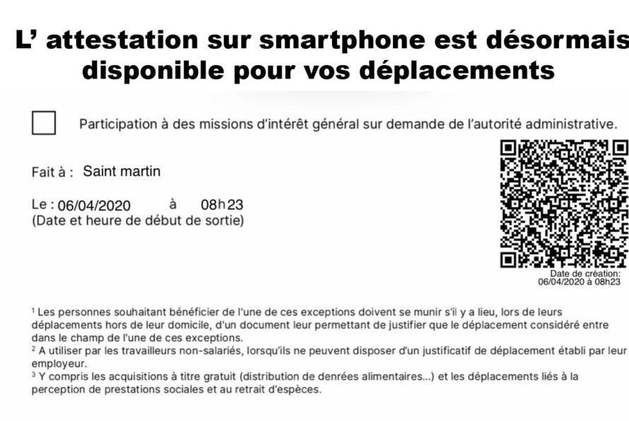 Confinement: une attestation sur smartphone est désormais disponible pour vos déplacements